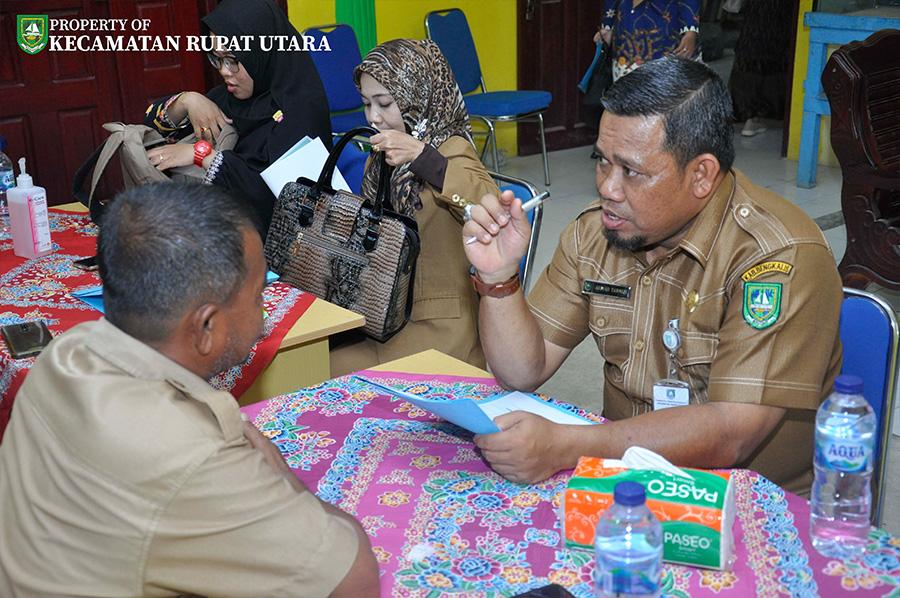 Hari Pertama Lomba Desa Tingkat Kecamatan Rupat Utara Dan Sosialisasi Pencegahan Corona di Mulai Dari Desa Suka Damai Dan Desa Titi Akar